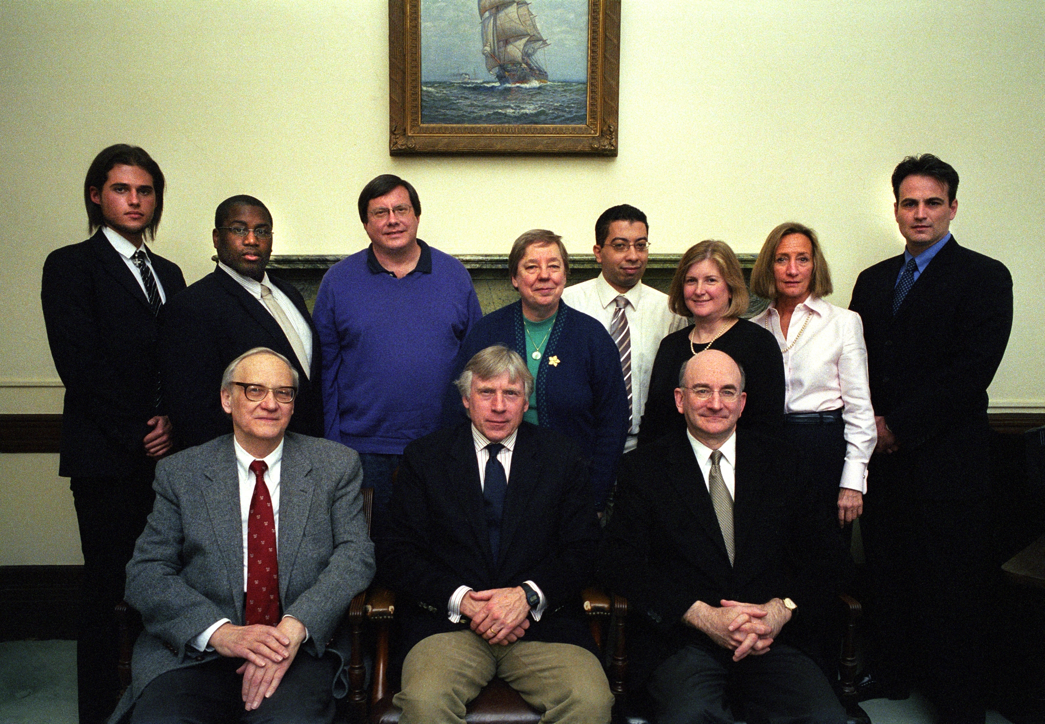exec jpg laureen zubiaurre nontenured college of dental medicine richard bulliet tenured a s ss sharyn o halloran tenured sipa seated left to right